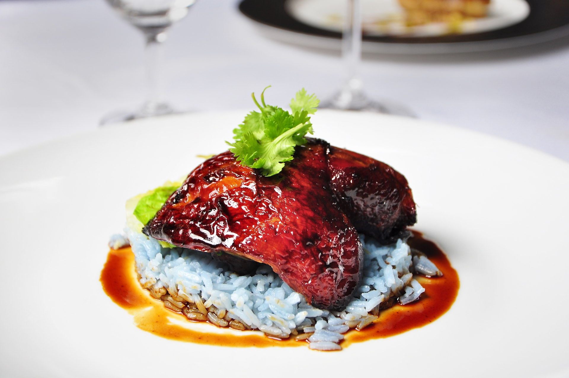 Soy-Roasted-Chicken-with-Bunga-Telang-Rice-2-min Indigo at The Blue Mansion